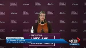 Alberta considers further extending time between doses of COVID-19 vaccine (03:18)
