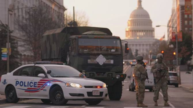 Click to play video: Security threat rains on D.C.'s typical inauguration celebrations, economy