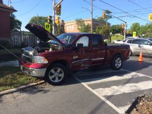 One injured in Sherbrooke Street collision in Peterborough