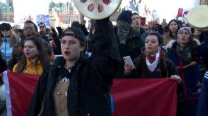 Rally held in downtown Ottawa in solidarity with Wet'suet'en