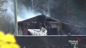 Fire destroys workshop in Norwood (01:30)