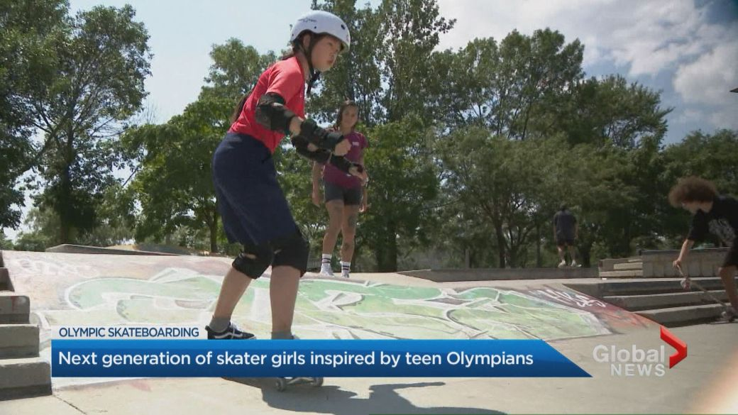 Click to play video: 'Next generation of skater girls inspired by teen Olympians'