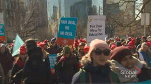 Teachers stage huge protest at Queen's Park and beyond