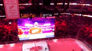 Hockey fans in Detroit sing 'O, Canada!' after mic cut
