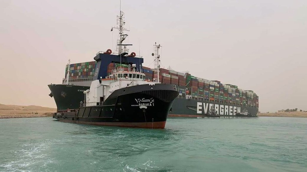Click to play video: 'Massive cargo ship stuck in Suez Canal continues to harm global shipping'