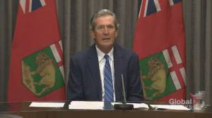 Manitoba premier announces program to help businesses hire employees promising to get vaccinated (01:42)