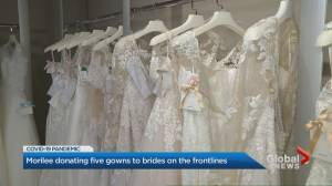 Coronavirus: Bridal manufacturer honours brides-to-be on frontlines