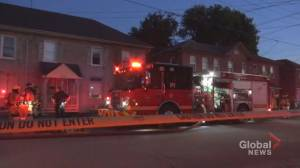 Fire rips through porch of Townsend Street home in Peterborough (00:35)