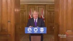 Coronavirus: Boris Johnson says 1st phase of Pfizer vaccine distribution in U.K. will start next week (00:54)