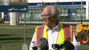 Richmond mayor on the groundbreaking of Capstan Canada Line Station (04:07)