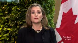 Freeland:  'I am very concerned about these extraordinary expenditures'