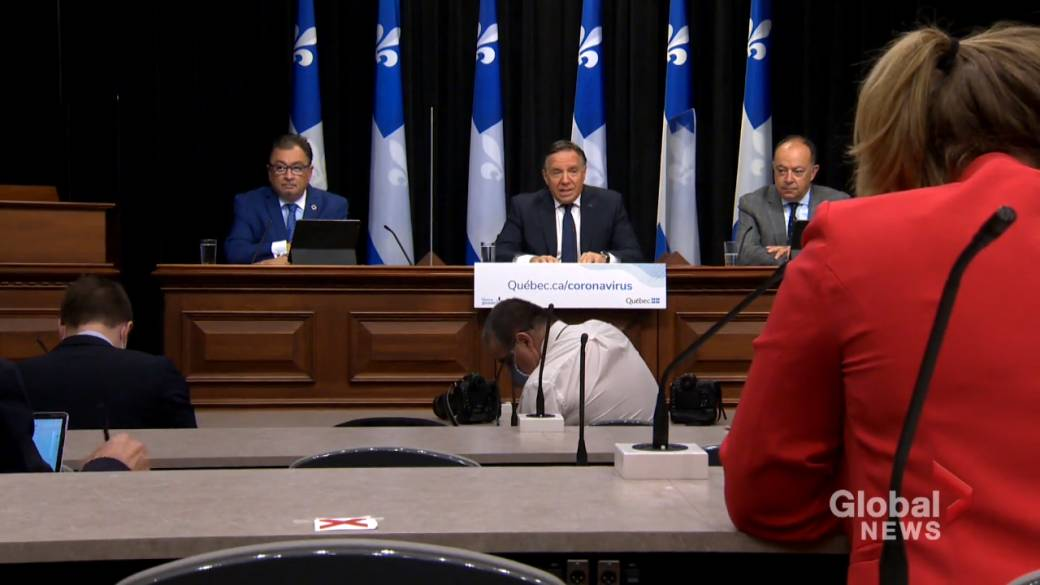 Click to play video 'Quebec Premier pleads with young adults to do their part to stop the spread of COVID-19'