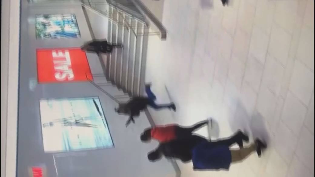 Video shows man running through Langley shopping mall with weapon, RCMP confirms assault