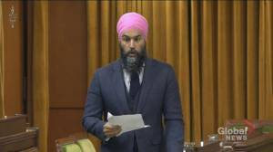 Singh reads letter in question period from Indigenous girl about lack of clean drinking water (01:24)