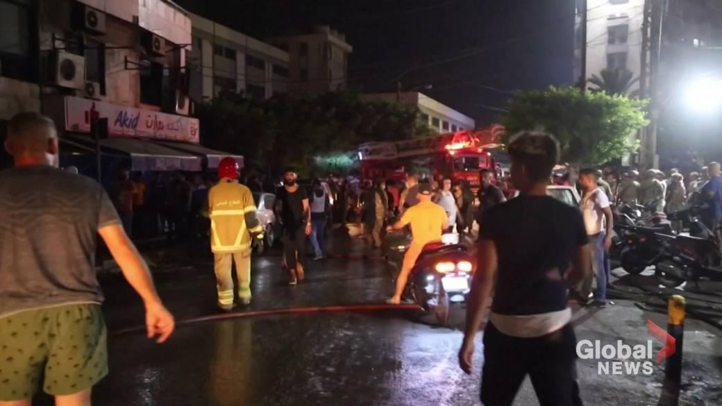 'Beirut substance  vessel  detonation  leaves 4 dead, respective  injured'