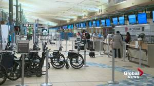 Slow holiday travel season at Edmonton International Airport (01:39)