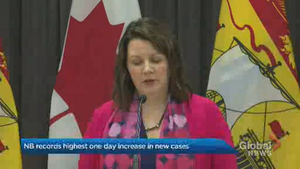 Click to play video 'Coronavirus: New Brunswick breaks record for new COVID-19 case numbers'