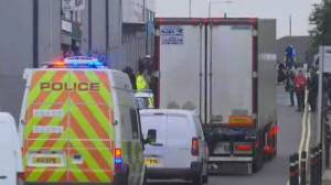 Truck found with 39 bodies inside is moved to U.K.'s Tilbury Docks