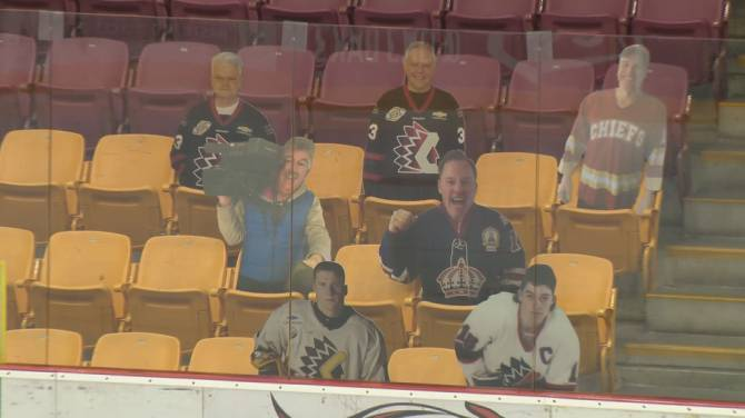Click to play video: BCHL 'sign of the times' campaign keeps fan spirit alive