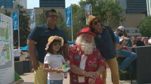 Santa travels from North Pole to visit the Taste of Edmonton (01:06)