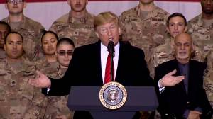 Trump says Taliban 'wants to make a deal' during surprise visit to Afghanistan