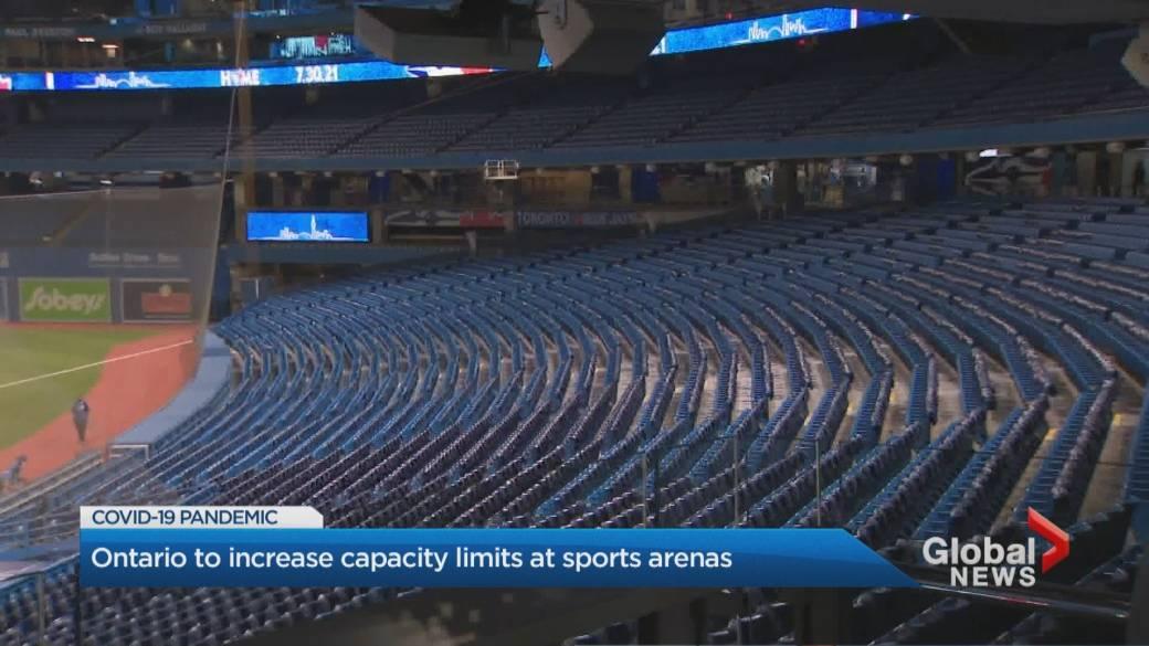 Click to play video: 'Ontario to increase capacity limits at sports arenas'