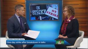 Ontario secondary school teachers hold one-day strike