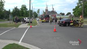Peterborough car accident sends a child and woman to hospital