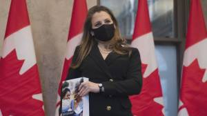 Budget 2021: Freeland says Canada's 'spending is necessary' (02:42)