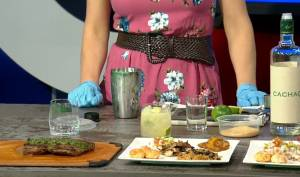 Daintre Christensen's Brazilian flank steak and caipirinha cocktail