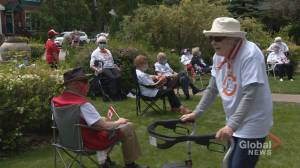 Calgary seniors take on unique walking challenge for Canada Day