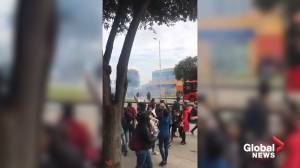 Police disperse Bogota protesters with tear gas