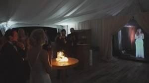 British bridesmaid 'beamed up' to Ontario wedding (02:00)