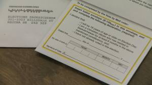 Mail-in ballots deciding factor in some Saskatchewan election races (00:48)