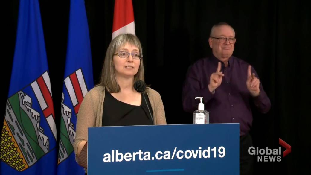 Click to play video: 'Hinshaw announces updated COVID-19 measures to help Regional Municipality of Wood Buffalo'