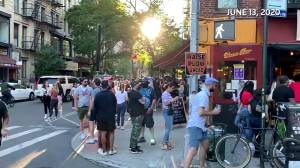 Coronavirus outbreak: N.Y. Gov. Cuomo urges better enforcement after scenes of crowds outside bars surface (03:00)