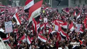Thousands of Iraqis rally against U.S. military presence