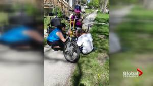 Saskatoon girl with spina bifida upset over stolen customized bikes