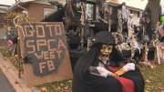 Play video: West Islander creates 'I spy' Halloween display for good cause