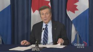 Coronavirus outbreak: Mayor Tory says federal and provincial governments must provide urgent support to municipalities now