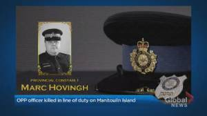 Tight-knit community mourns slain OPP officer (02:36)
