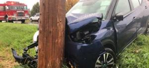 SUV strikes hydro pole in Cobourg
