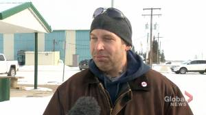 Josh Kondraczynski evacuated from Guernsey, Sask., following CP train derailment