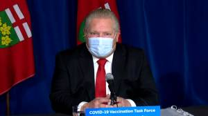Coronavirus: Ford says COVID-19 vaccinations for vulnerable seniors, caretakers running 'well ahead of schedule' (02:28)