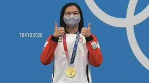 Canada bags gold medal in swimming, first medal in judo at Tokyo Olympics (02:10)