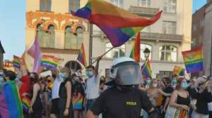 Poland's 'LGBT-free zones' trigger global outcry for action (02:20)