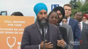Federal Election 2019: Singh says opioid crisis needs healthcare, not criminal justice response