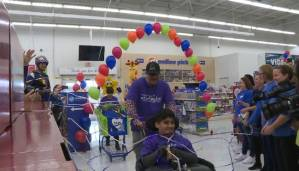Child living with cerebral palsy gets chance to go on toy shopping spree