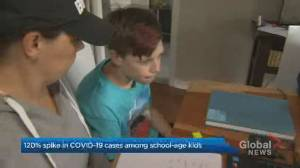 Coronavirus: Ontario reporting nearly 120% spike in COVID-19 cases involving school-aged children (02:08)