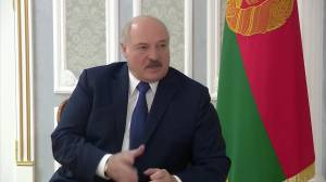 Belarus president takes jab at US over riot, says country safe for 2021 ice hockey championship (02:04)